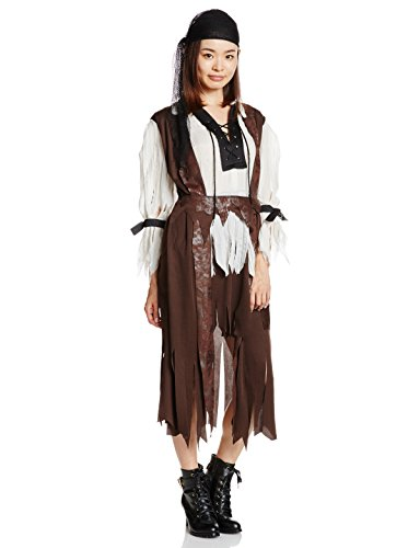 Female Caribbean Pirate Costumes (Rubie's Costume Caribbean Pirate Babe, Brown, One Size Costume)