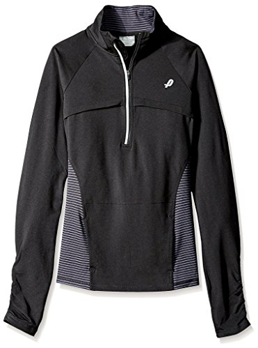 Penn Women's Stripe Finish Line Jacket, Black, S
