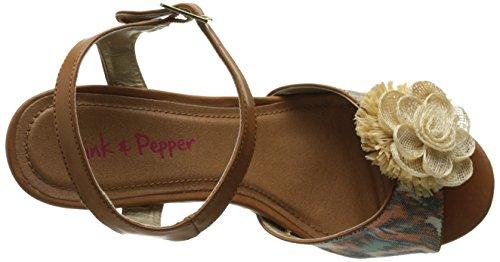 Pink Orange Tialla amp; Women's Wedge Print Sandal Pepper r8rHwg