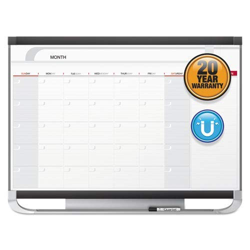 (Prestige 2 Magnetic Total Erase Monthly Calendar, 36 x 24, Graphite Color Frame (Renewed))