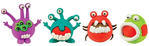 Raymond Geddes Microbe Monster Eraser Assortment, 24 Pack (69868)