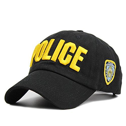 - Donna Pierce Police Baseball Cap Snapback Cap for Men and Women Unisex Army Adjustable Hat Casquette Caps for Men & Women JS194 Yellow