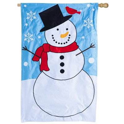 Let It Snow Applique Garden Flag Size: 44