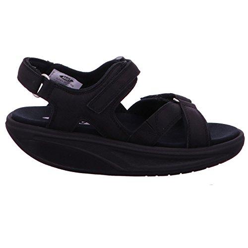 Mbt Kisumu 5 Black Nubuck 700676 - Sandales Noires Pour Femmes
