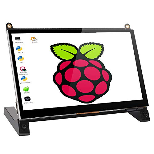 UPERFECT 7-inch Portable Screen Computer Display Monitor Open Source Module 1024×600 Built-in Speakers with Prop Stand Touch Pen for Raspberry Pi 3 2 Model B B+ PC PC Win MAC Laptop Cellphone