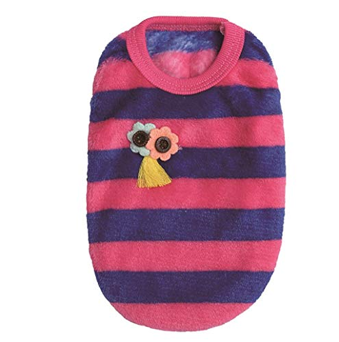 Pet Sweater,JHKUNO Super Cute Puppy Fleece Vest Comfortable Warm Cute Print Pattern Embellishment Dog Tank Top - Embellishments Gingerbread