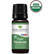 Plant Therapy Marjoram Organic Essential Oil 10 mL (1/3 oz) 100% Pure, Undiluted, Therapeutic Grade