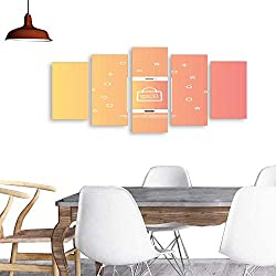 UHOO 5 Piece Wall Art Paintingsale Bag icon on Smartphone Screen Design Template Vector illustration3. All Decor Gift