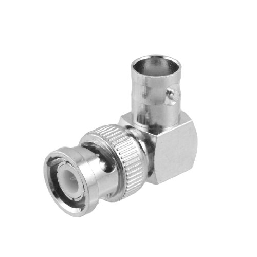 BNC Female to Male CCTV Coaxial Cable Coupler Adapter - Elbow Coaxial