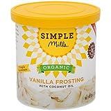 Simple Mills Organic Frosting, Vanilla, 10 oz - PACKAGING MAY VARY