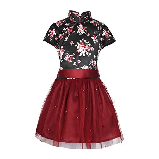 Naughty Ninos Black And Maroon Floral Printed Dress