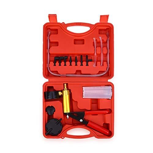QUAROS 15pcs Car Auto Hand Held Vacuum Pistol Pump Brake Bleeder Adaptor Fluid Reservoir Tester Kit 2 in 1 Tool Kits