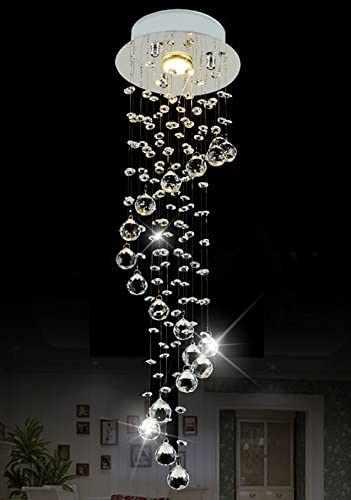 Raindrop Chandelier Lighting Modern Crystal Ceiling Lighting D7.9 x H29.5