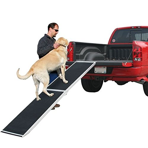 96 Inch Lightweight Extra Wide Folding Aluminum Pet Ramp / Loader For Truck
