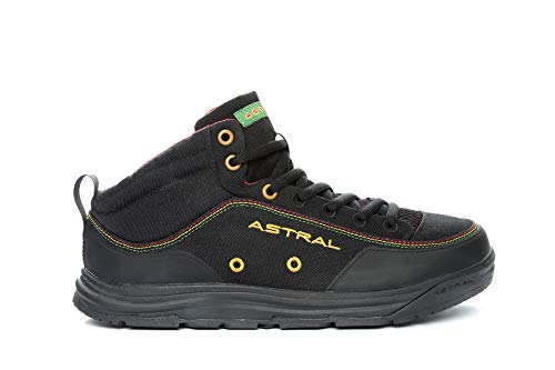 Astral Rassler 2.0 Outdoor Minimalist Shoes, Grippy and Lightweight, Made for Whitewater, Canyoneering, Fly Fishing, and Travel, Rasta Black, Men's 14 M US, Women's 15 M US (Best Canoe For Fly Fishing)