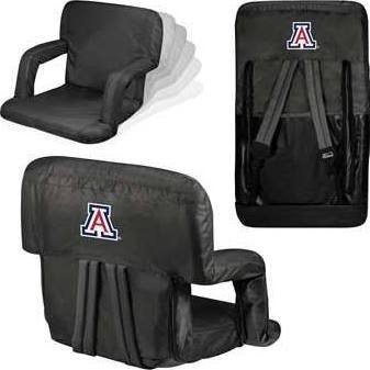 NCAA Arizona Wildcats Ventura Portable Reclining Seat, Black ()