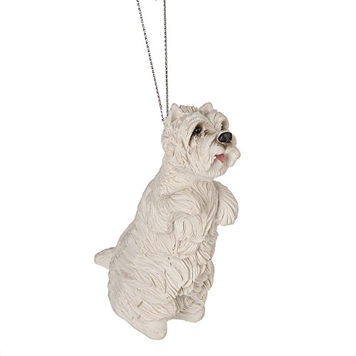 Midwest-CBK Playful West Highland Terrier 2 x 3.5 Inch Resin Christmas Ornament Figurine