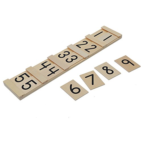 Montessori Math Teens and Tens Seguin Board with Bead Bars Wood Toys Early Childhood Education Preschool Training Baby by DANNI (Image #5)
