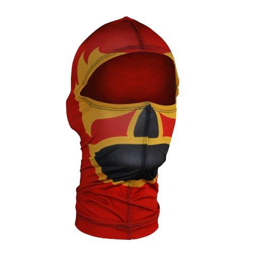- ZANheadgear Nylon 'Luchador' Design Balaclava (Red, One Size)