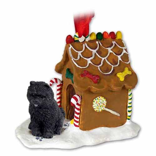 Chow Chow Gingerbread House Christmas Ornament Black - DELIGHTFUL!