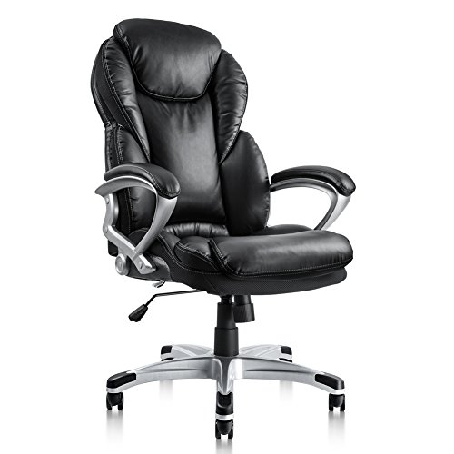 Cheap  Pto Furniture Executive Office Chair Ergonomic Thick Cushion Bonded PU Leather High..