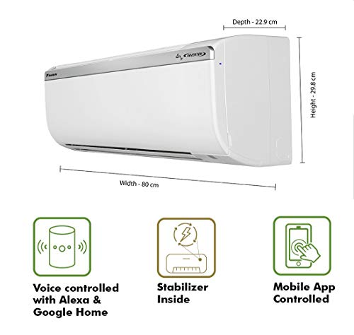 Daikin 1 Ton 5 Star Wi-Fi Inverter Split AC (Copper FTKR35TV White)