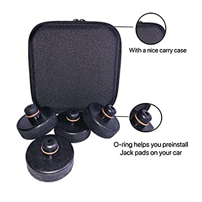 Chirano Lifting Jack Pad for Tesla Model 3/ Model S/Model X/Model Y, 4 Pack with a Storage Case, Tesla Accessories: Automotive