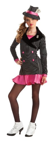 Rubie's Drama Queens Tween Gangster Costume - Tween Medium (Mens 1930's Costumes)