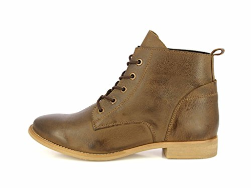 Pictures of ALBERTO TORRESI Leather Ankle BootsWomen Lace Up 7007 TAUPE 3
