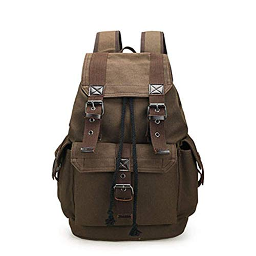 Car Streamlined Baggage - BABAYD Outdoor Travel Baggage Canvas Hiking Backpack Camping Tactical Backpack Men's Sports Backpack Cycling Backpack,Brown