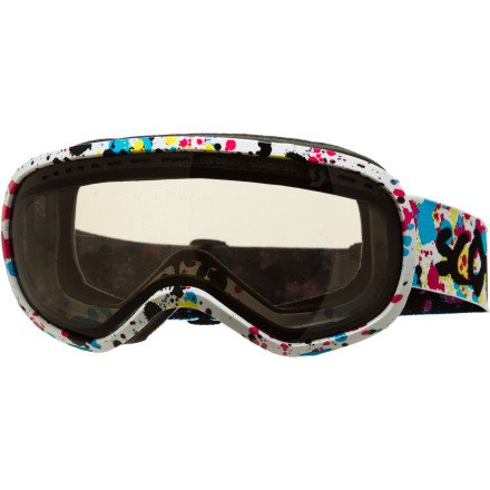 SCOTT US Off-Grid Ski Goggles, Speckle Blue/Pink, Black Chrome Natural Lens (Goggles Chrome Pink)