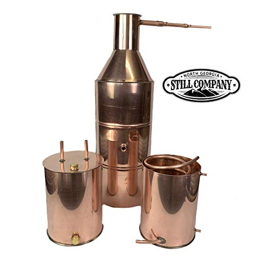 North Georgia Still Company 10 Gallon Copper Moonshine Whiskey & Brandy Still with 3 Gallon Worm, 3 Gallon Thumper, 1/2 OD Copper Tubing by North Georgia Still Company price tips cheap