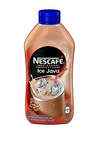 Nescafe Ice Java Coffee Syrup 470ml - Pack of 2 - Imported from Canada (Cappuccino Ice)