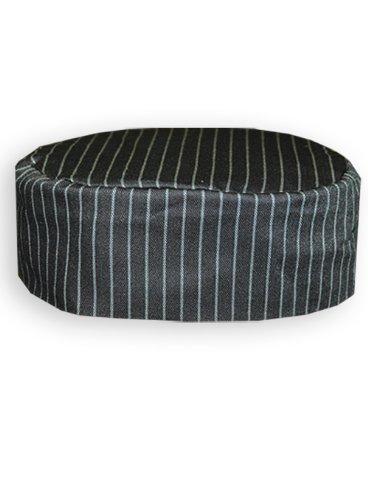Newchef Fashion Grey Pinstripe Skull Cap XL