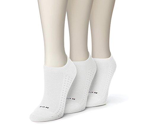 HUE Air Cushion Socks 3-Pack, One Size, White