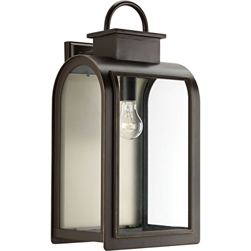 Progress Lighting P6032-108 Traditional/Casual 1-100W Med Wall Lantern, Oil Rubbed Bronze