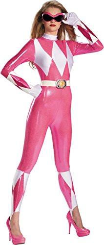 Pink Ranger Sassy Bodysuit Adult Costume - Large ()