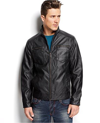 Inc International Concepts Berris Faux-Leather Jacket (Large, Black) by INC International Concepts
