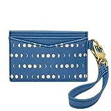 Fossil Women's Blue Cardcase with Wristlet Wallet