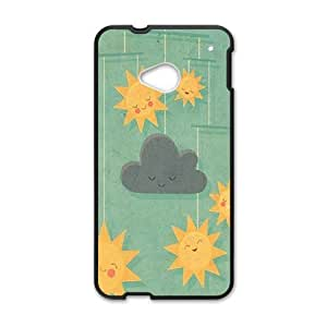 Smile Sun Wind chimes personalized creative custom protective phone case for HTC M7