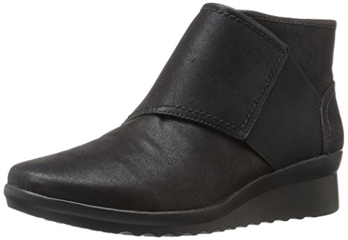 Removable Footbed (Clarks Women's Caddell Rush Boot, Black, 9 M US)