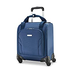 The Samsonite Spinner underseater with USB Port is the ultimate travel companion. This smart Spinner carry on fits under the seat or in the overhead, and helps you beat carry on fees. It's small enough to count as your personal item