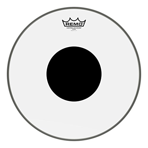 Remo Controlled Sound Clear Drum Head with Black Dot - 14 Inch