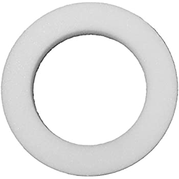 FloraCraft Styrofoam Rounded Edge Shrink Wrapped Wreath, 12-Inch by 2-1/4-Inch by 2-Inch, White