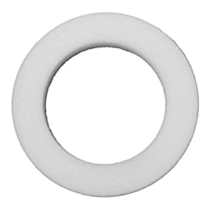 "FloraCraft W18WS/6 Styrofoam Wreath, 18 x 2-1/2 x 2"", WHITE 12"