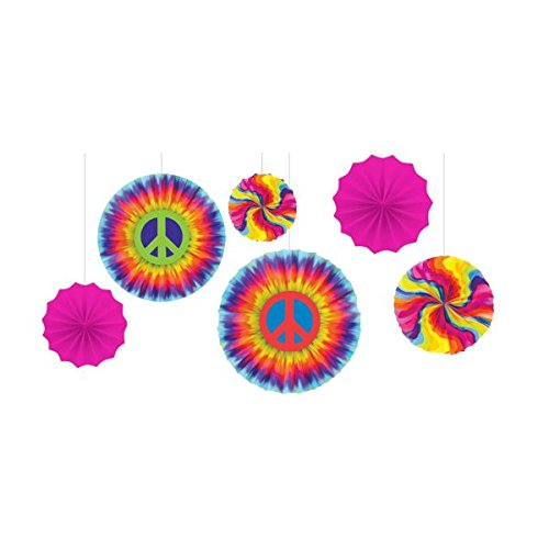 60's Party Printed Fan Decorating Kit