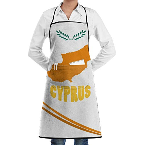 HEPKL Originality Cyprus Apron with Pockets Locked Durable for BBQ Kitchen Cooking Baking Crafting (20.5 X 28.3 Inches)
