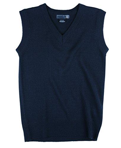 Boys School Uniform Sweater Vest (Navy, 14/16 Boys)
