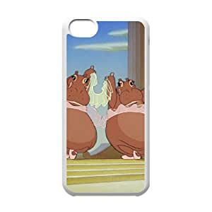 Disney Fantasia Character Hyacinth Hippo iphone 5C Cell Phone Case White Phone Accessories JV1746G5