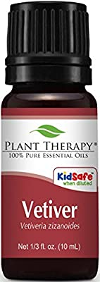 Plant Therapy Vetiver Essential Oil. 100% Pure, Undiluted, Therapeutic Grade.